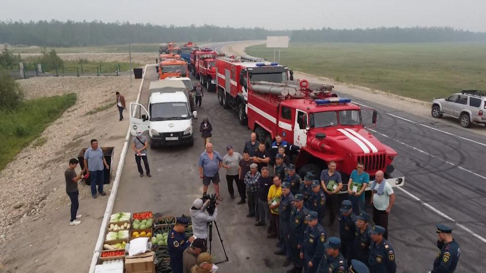 Более 20 единиц техники отправили из Якутска на тушение лесных пожаров в Горном районе