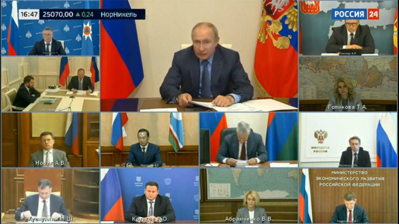 Айсен Николаев принял участие в совещании президента РФ Владимира Путина