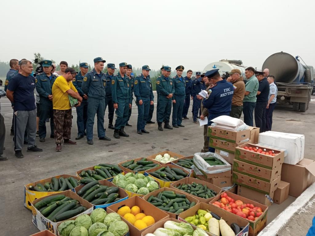УСХ Якутска организовало помощь в борьбе с лесными пожарами в Горном районе