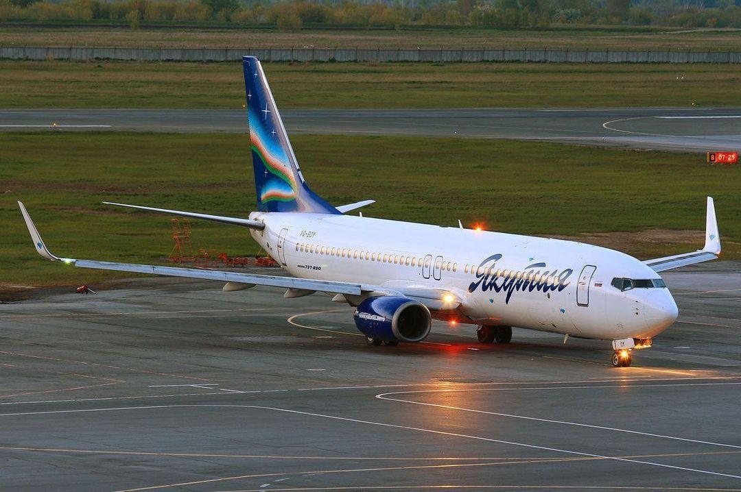 Самолет из Москвы не смог приземлиться в Якутске из-за дождя