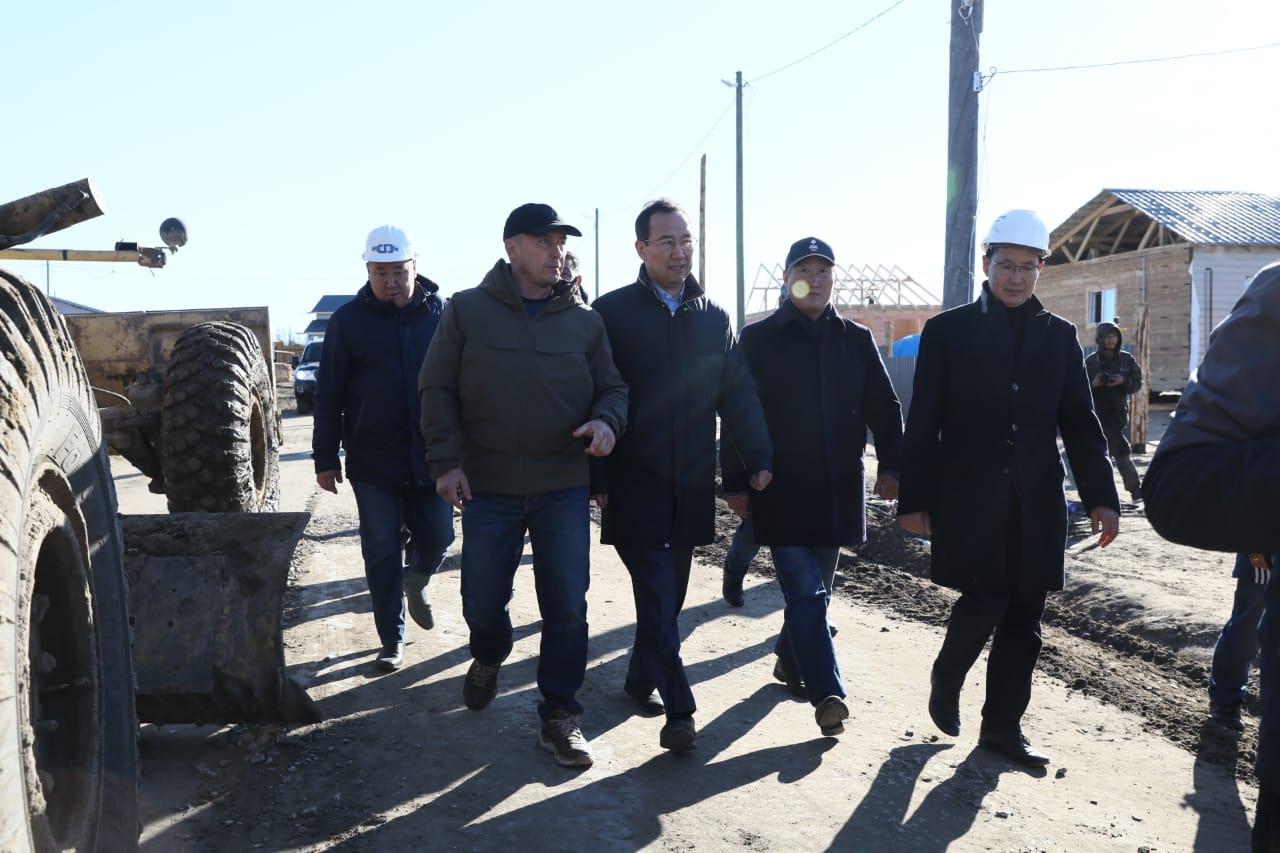 Новые дома в якутском селе Бясь-Кюель введут в срок