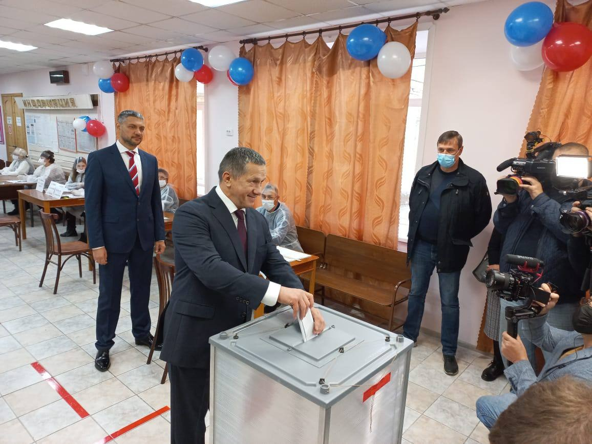 Вице-премьер Юрий Трутнев проголосовал на выборах в Госдуму