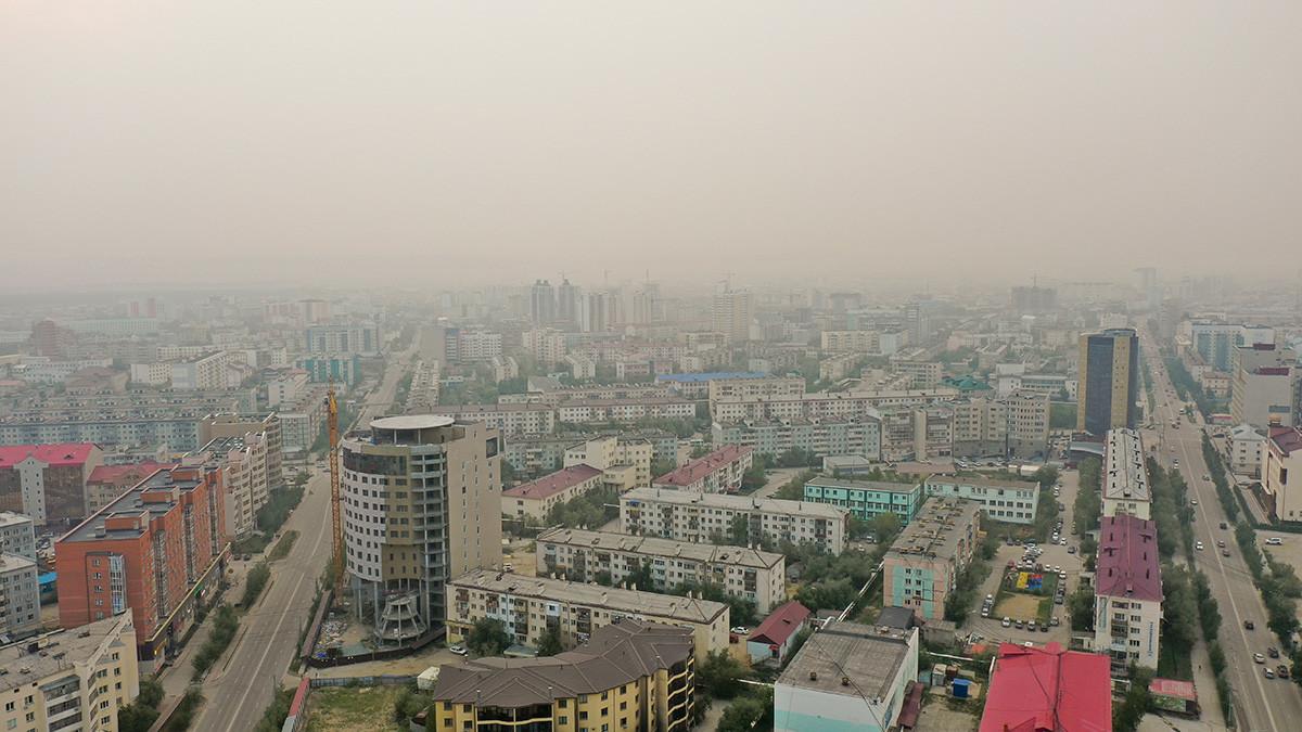 Задымленность в Якутске вызвана пожарами в Усть-Майском районе Якутии