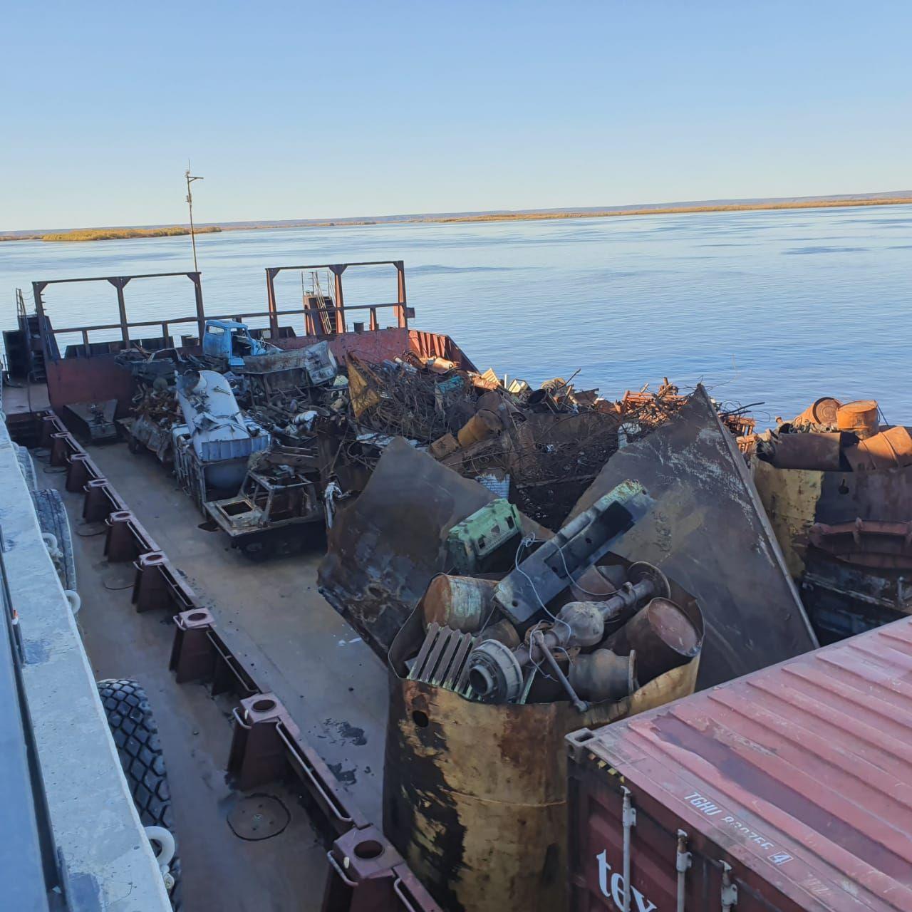 Собранный в Булунском районе Якутии металлолом отправят на переработку в Комсомольск-на-Амуре