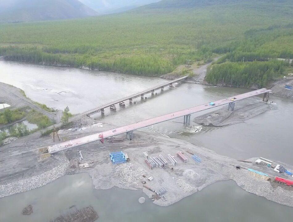 Мост через реку Аллах-Юнь в Якутии достроят в сентябре 2023 года