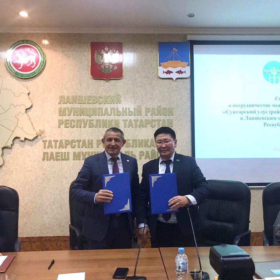 Сунтарский район Якутии будет сотрудничать с Лаишевским районом Татарстана
