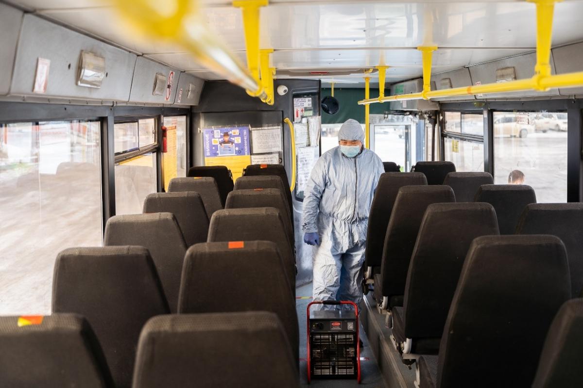 Меры по дезинфекции общественного транспорта усилили в Якутске
