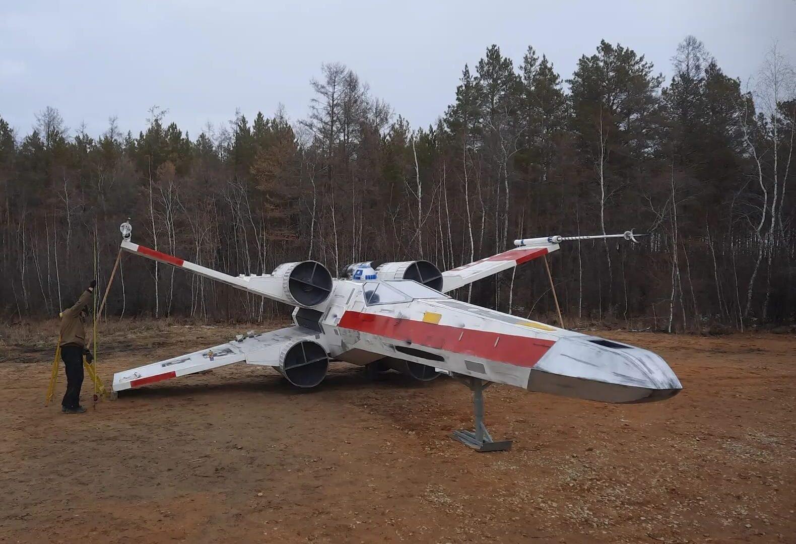 Копию корабля Люка Скайуокера установили в парке отдыха в Якутске